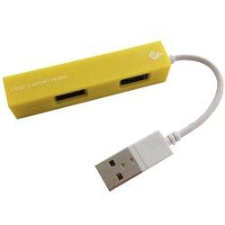 HUB USB V2.0 4 PUERTOS BROBOTIX AMARILLO