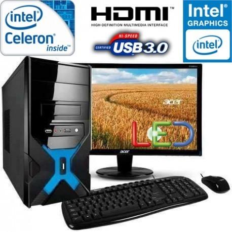 """PC INTEL PENTIUM 3.1GHZ MONITOR LED HD 18.5"""" 250GB MEMORIA 4GB"""