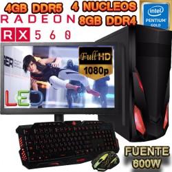 PC GAMER INTEL SKYLAKE RADEON RX-460 2GB DDR5 8GB DDR4 MONITOR FULL HD