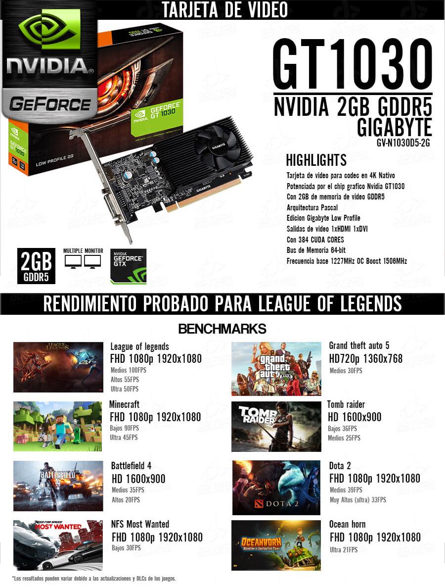pc gamer barata 2017 amd a8 nvidia gt-1030 2gb ddr5 en mexico