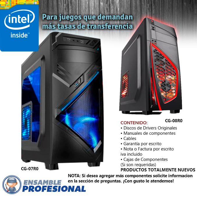 ensamble profecional de computadoras armadas gaming en mexico