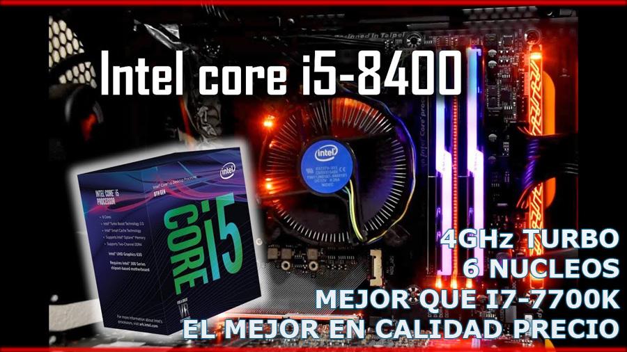 SUPER COMPUTADORA gaming 2018 procesador intel core i5 8400 6 nucleos mejor que core i7 el mejor en calidad precio