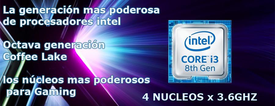 Nueva super computadora gamer en oferta juegos en ultra graficas, intel core i3 8100 octava generacion en Mexico