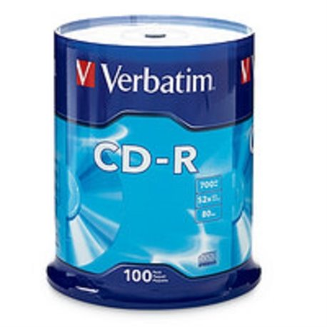 TORRE 100 CD-R VERBATIM 52X 80MIN 700MB
