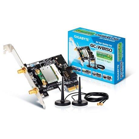 TARJETA PCI GIGABYTE GC-150 PCIE BLUETOOTH 4.0 WIFI 150 MBPS 2 XANTENAS
