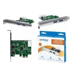 TARJETA MANHATTAN PCI EXPRESS USB 3.0 2 PUERTOS SUPER VELOCIDAD