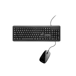 KIT TECLADO Y MOUSE TRUE BASIC USB NEGRO TB-01006