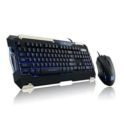 THERMALTAKE BD KB-CMC-PLBLSP-01 COMMANDER GAMING GEAR TTe USB FULL BLUE BACKLIGHT KB MUL KEYS 8 & MS 800-2400 DPI Español