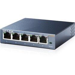 TP-LINK TL-SG105 SWITCH GIGABIT 5 PUERTOS 10/100/1000 MBPS CAJA DE ACERO MONTAJE ESCRITORIO O PARED