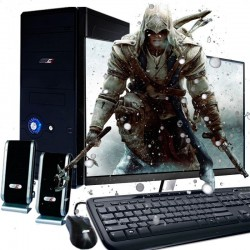 PC GAMER AMD A8 4 NÚCLEOS VÍDEO RADEON R7 1TB 4GB MONITOR LED HD