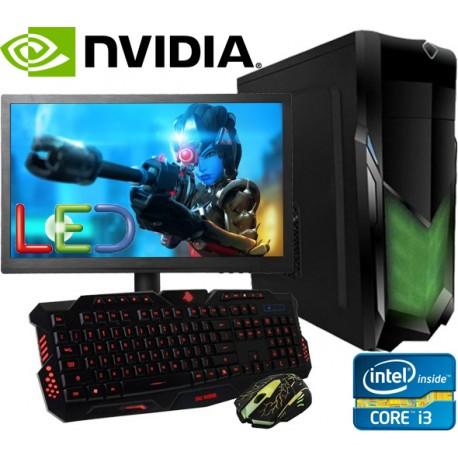 PC GAMER INTEL CORE I3 VIDEO NVIDIA GTX 2GB DDR5 MONITOR LED HD 1TB 8GB