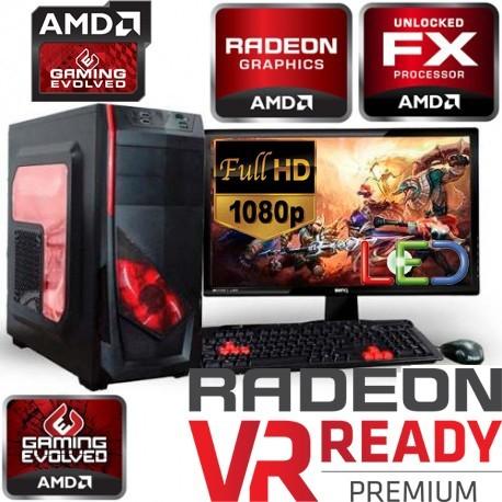 PC GAMER AMD FX-6300 6 NÚCLEOS RX-460 2GB DDR5 MONITOR FULL HD 1TB 8GB