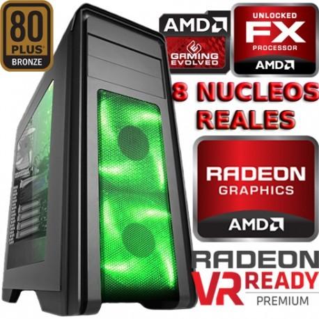 ULTRA CPU GAMER AMD FX-8 NÚCLEOS TURBO 4GHZ RADEON RX-470 4GB DDR5 1TB 8GB