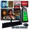 PC GAMER INTEL CORE I5-6500+RADEON RX-470 4GB DDR5 MONITOR FULL HD