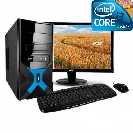 """COMPUTADORA INTEL CORE I3-4150 3.5GHZ PANTALLA LED HD 18.5"""" 1TB MEMORIA 4GB"""