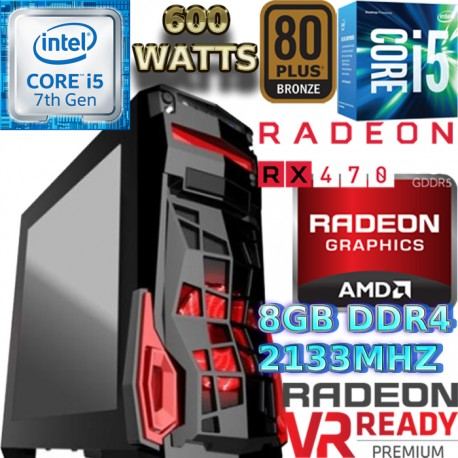 ULTRA CPU GAMER INTEL CORE I5-6500 VÍDEO RX-470 4GB DDR5 1TB 8GB DDR4