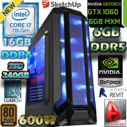 PC RENDER ARQUITECTURA CORE I7-7700 NVIDIA GTX-1060 6GB DDR5 16GB DDR4 SSD
