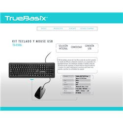 ACTECK ACTECK BD TB-01006 KIT TECLADO Y MOUSE TRUE BASIX