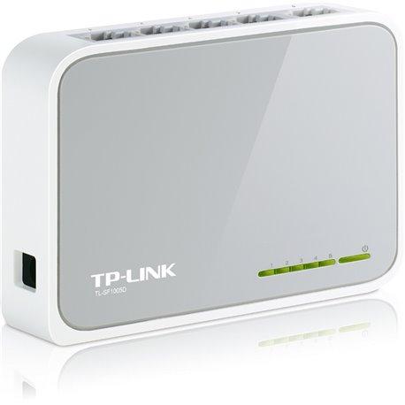 TP-LINK TP-LINK NP TL-SF1005D MINI SWITCH 5 PUERTOS 10/100MBPS CAJA PLASTICO MONTAJE ESCRITORIO O EN PARED