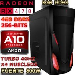 CPU GAMER AMD A8-7600 4 NÚCLEOS RADEON RX-460 2GB DDR5 1TB MEMORIA 8GB