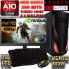 PC GAMER AMD A10-7860K 4GHZ X4 NÚCLEOS RX-470 4GB DDR5 PANTALLA FULL HD 8GB