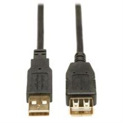 CABLE DE EXTENSIÓN USB TRIPP-LITE U024-006, 2.0 DE ALTA VELOCIDAD (A M/H), 1.83 M [6 PIES],CONECTORES BAÑADOS EN ORO.