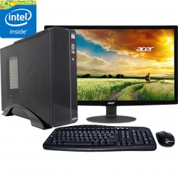 "PC INTEL PENTIUM 3.1GHZ MONITOR LED HD 18.5"" 250GB MEMORIA 4GB"