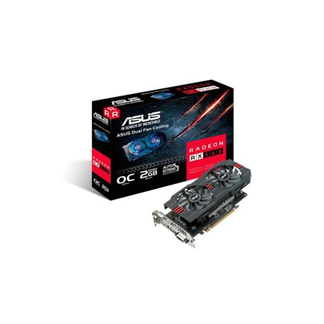 TARJETA DE VIDEO ASUS RX560-O2G, AMD RADEON RX 560, OPEN GL 4.5, GDDR 2GB, MAX RESOLUTION 5120 X 2880, DVI-D X 1, HDMI X 1, DISP
