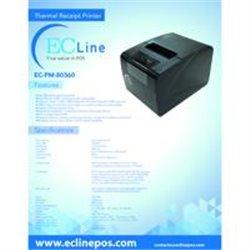 MINIPRINTER TERMICA EC LINE EC-PM-80360,SERIAL+USB+ETHERNET/,NEGRA 80MM/(3,15)VEL.300MM/SEG.