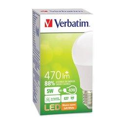 FOCO VERBATIM VB99860 LED CLASSIC BLANCA SUAVE 5W40W A 2700K 470LM