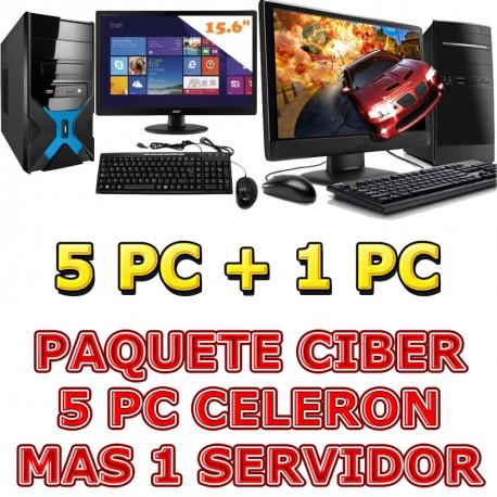 ★OFERTA! PAQUETE 10 PC PARA CIBER INTEL CELERON 2.4GHZ MONITOR LED HD