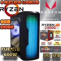 CPU GAMER AMD RYZEN 5 2400G VIDEO RX VEGA