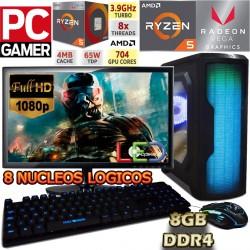 PC GAMER RYZEN 5 2400G RADEON VEGA PANTALLA