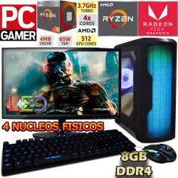PC GAMER AMD RYZEN 3 2200G VIDEO RADEON VEGA MONITOR