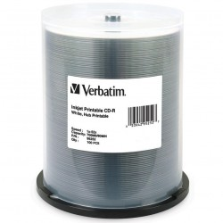 TORRE 100 CD-R VERBATIM BLANCO IMPRIMIBLE 80/700MB 52X