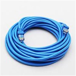 CABLE DE RED GHIA 7.5 MTS 22.5 PIES CAT 5E UTP AZUL