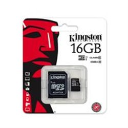 MEMORIA KINGSTON MICRO SDHC CANVAS SELECT 16GB UHS-I CLASE 10 C/ADAPTADOR