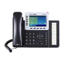TELFONO IP COLOR GIGABIT PARA 6 LNEAS 6 CUENTAS SIP AUDIO HD BLUETOOTH 2.1 24 TECLAS PROGRAMABLES POE Y FUENTE DE ALIMENTACION I