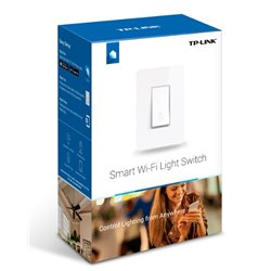 SWITCH DE LUZ INTELIGENTE (SMART SWITCH) TP-LINK HS200 WI-FI 2.4GHz, 802.11b/g/n INDICADOR LED CON ACCESO REMOTO