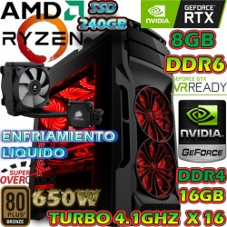 PC GAMER RYZEN 7 2700X NVIDIA RTX-2070 8GB DDR6 16GB DDR4