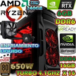 PC GAMER AMD RYZEN 7 2700 NVIDIA RTX-2060 6GB DDR6 16GB DDR4