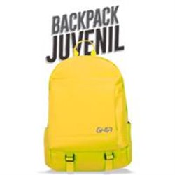 MOCHILA BACKPACK GHIA 15.6 COLOR AMARILLO 3 COMPARTIMIENTOS