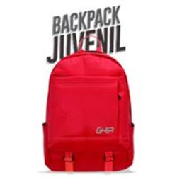 MOCHILA BACKPACK GHIA 15.6 COLOR ROJO 3 COMPARTIMIENTOS