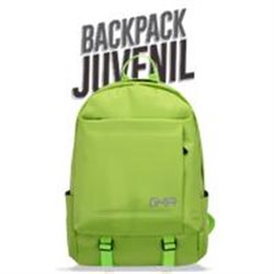 MOCHILA BACKPACK GHIA 15.6 COLOR VERDE 3 COMPARTIMIENTOS