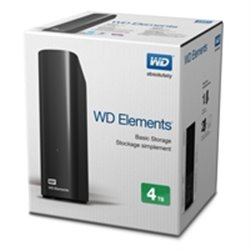 DD EXT ESCRITORIO 4TB WD ELEMENTS NEGRO 3.5/USB3.0/WIN