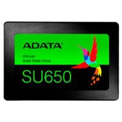 UNIDAD DE ESTADO SOLIDO SSD ADATA SU650 240GB 2.5 SATA3 7MM LECT.520/ESCR.450MBS SIN BRACKET PC LAPTOP