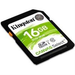 MEMORIA KINGSTON SDHC CANVAS SELECT 16GB UHS-I CLASE 10