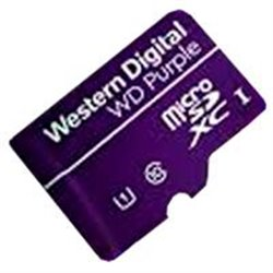 MEMORIA WD 128GB MICRO SDXC PURPLE VIDEOVIGILANCIA 24/7 CLASE 10 U3 V30 LECT 100MB/S ESC 60MB/S