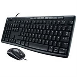 TECLADO/MOUSE LOGITECH MK200 NEGRO ALAMBRICOS MULTIMEDIA/OPTICO USB PC