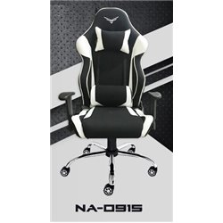 SILLA GAMER NACEB NA-0915 RECON. COLOR NEGRO/BLANCO